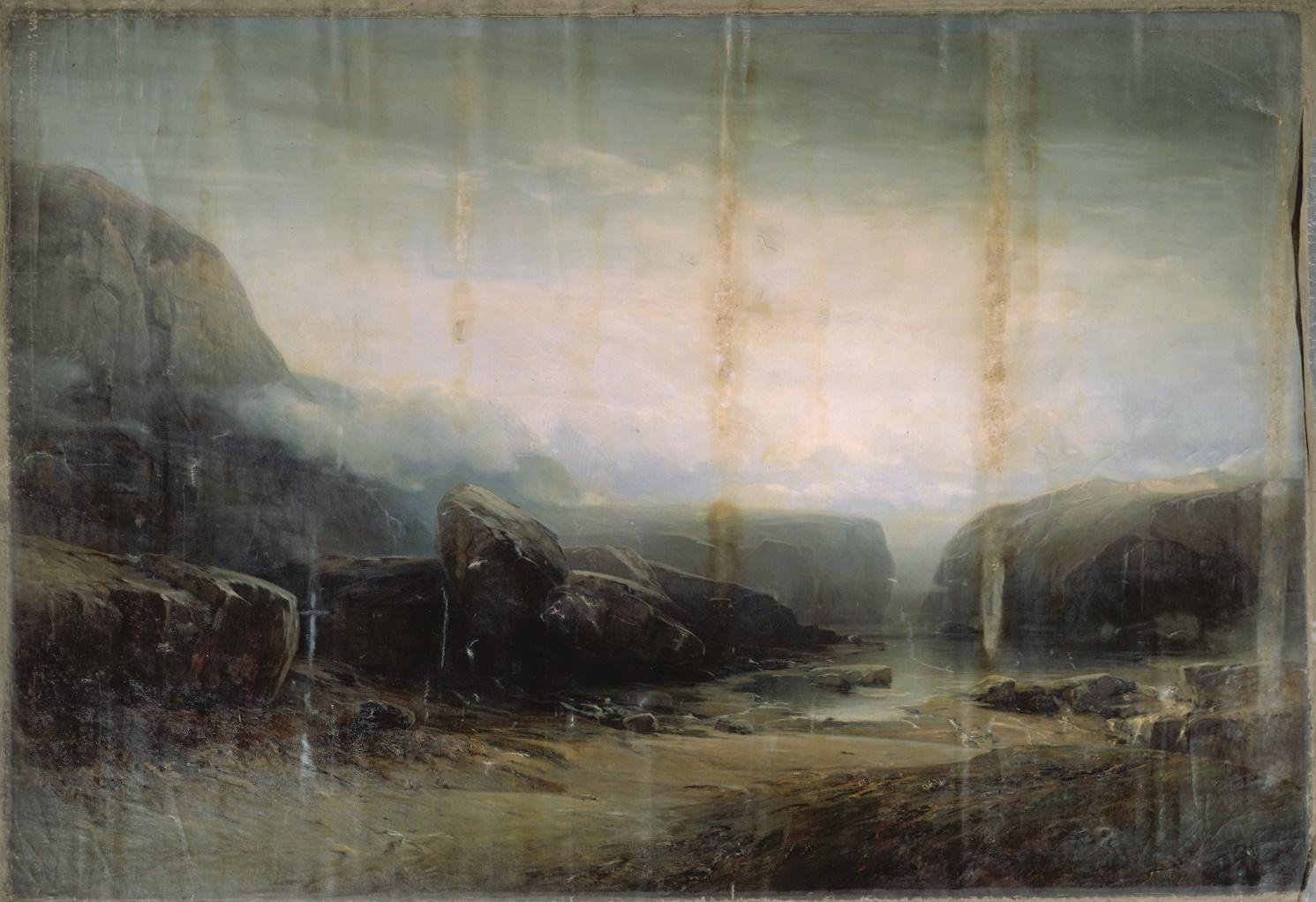"""Ludwig Willroider, Monumentalgemälde """"Nach der Sintflut … und die Wasser verliefen sich"""", 1902"""