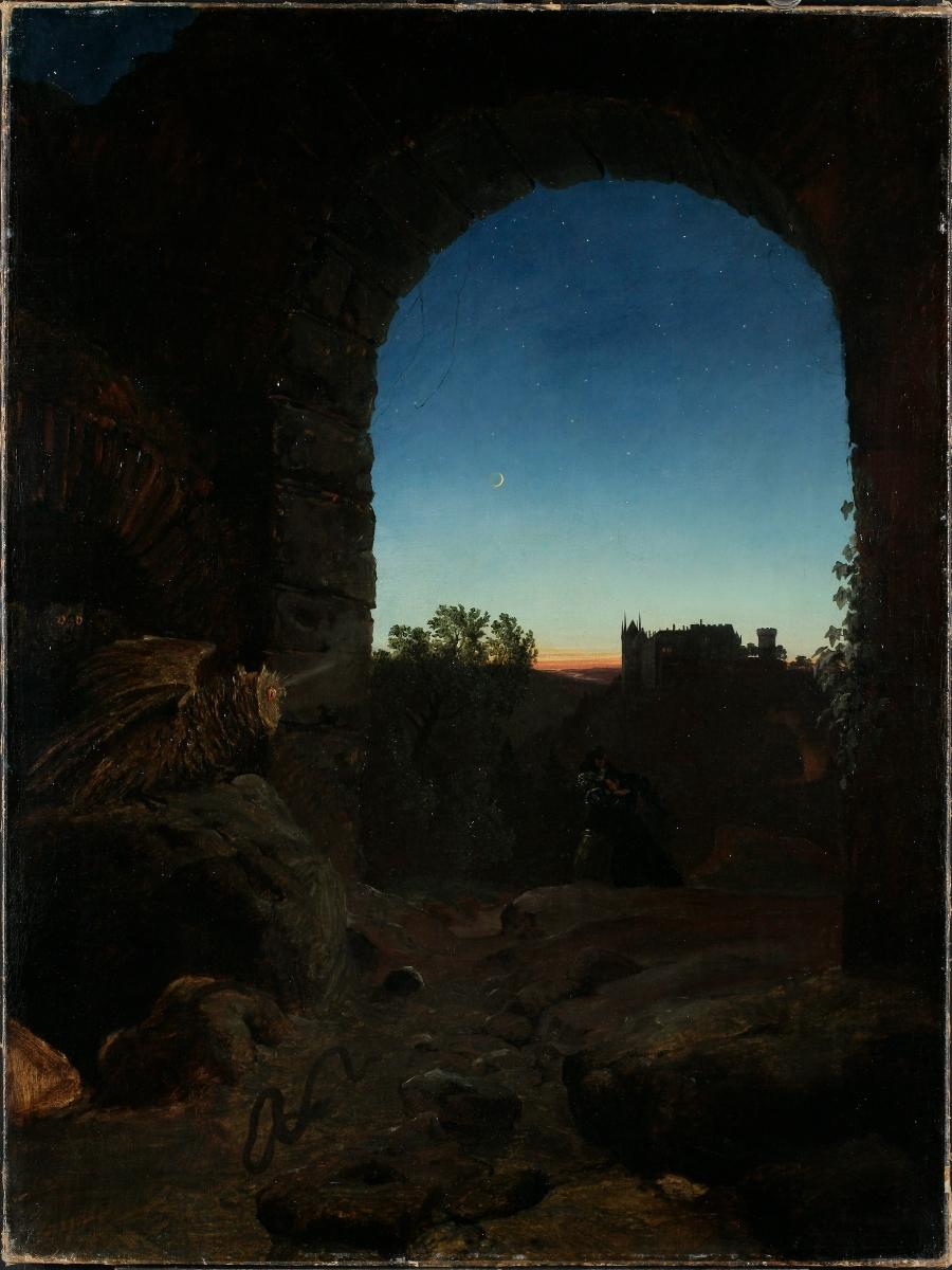Carl Eduard Blechen, Romantische Landschaft mit Ruine, um 1825 Foto: LWL