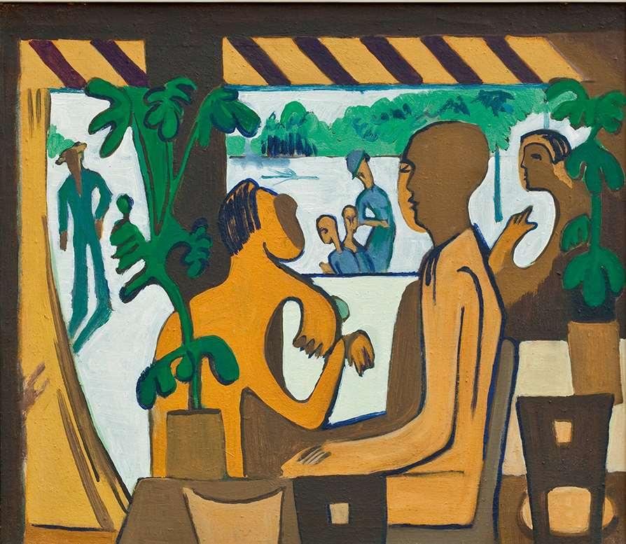 Ernst Ludwig Kirchner, Braune Figuren im Café, 1928/29