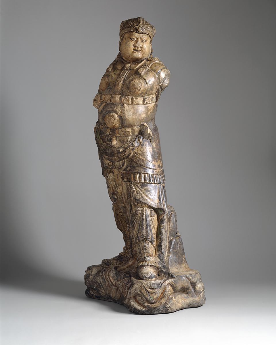 Wächterkönigs (Lokapala) aus dem 9. – 10. Jahrhundert