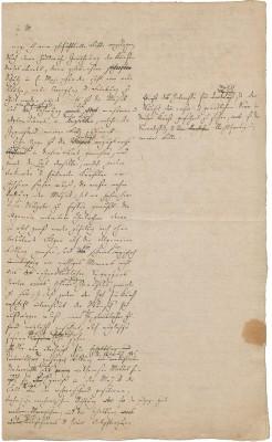 Briefentwurf Felix Mendelssohn Bartholdys an den sächsischen König Friedrich August II.
