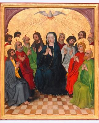 Heilig-Geist-Retabel, Mitteltafel: Herabkunft des Heiligen Geistes