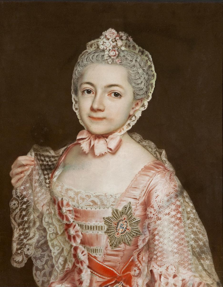Christoph Friedrich Reinhold Lisiewsky, Porträt der Henriette Catharina Agnese von Anhalt-Dessau, um 1763