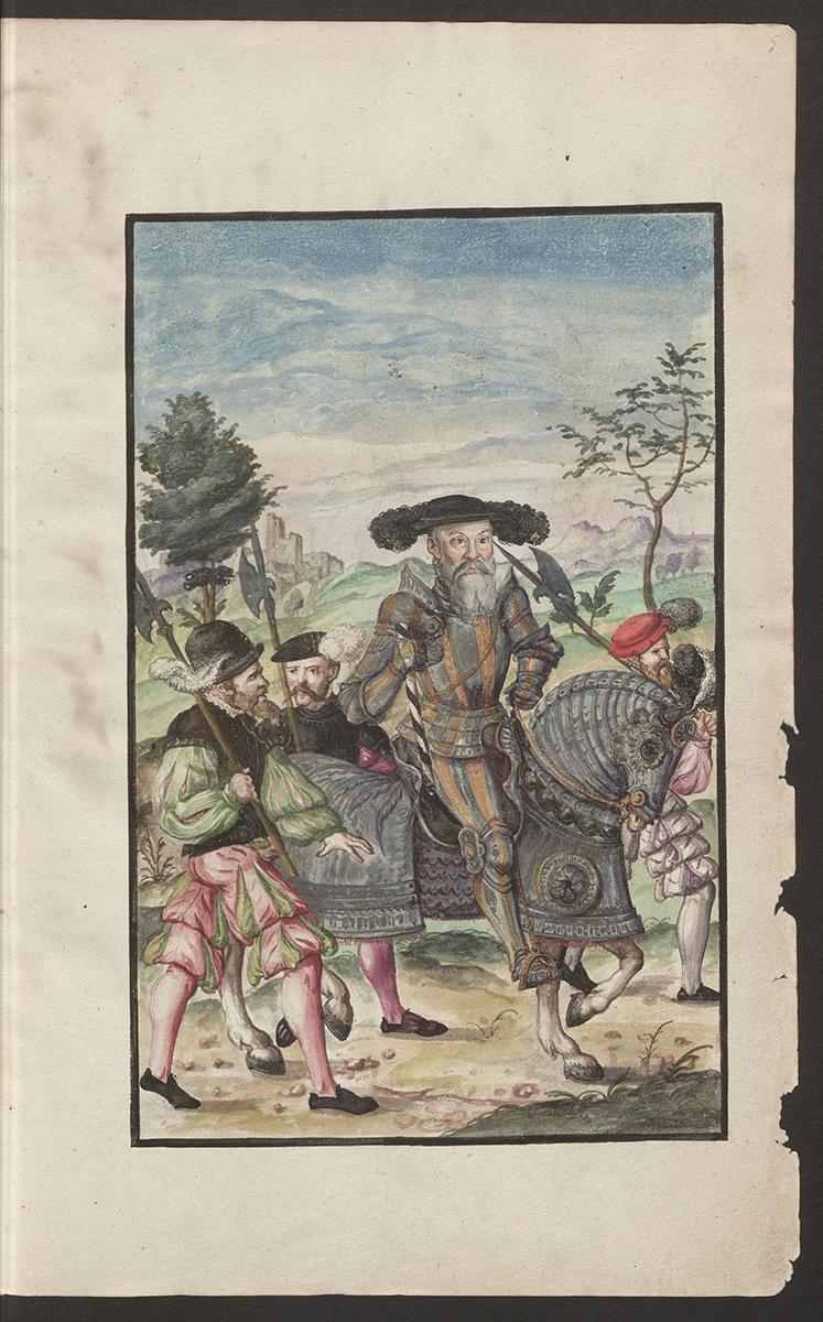Kriegsordnung, Blatt 5, Abbild von Markgraf Albrecht von Brandenburg-Ansbach