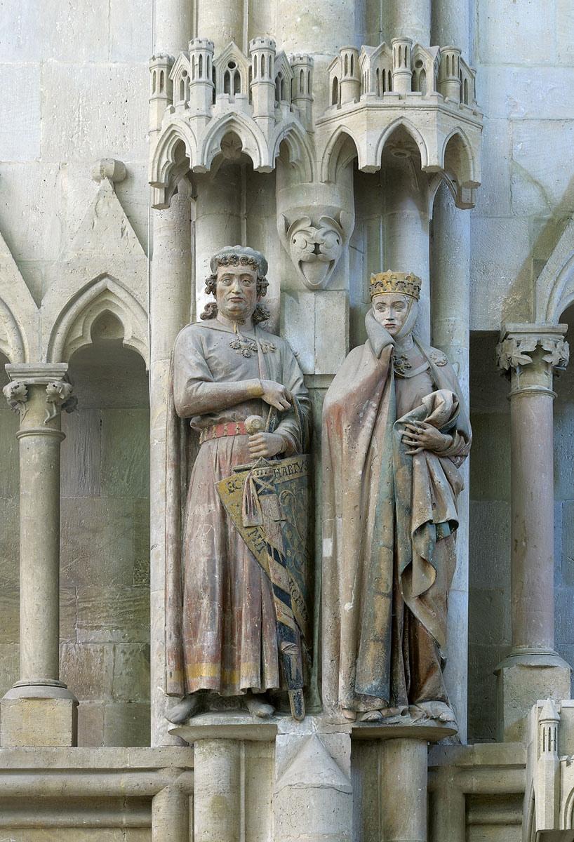 Naumburger Meister, Stifterfiguren Markgraf Ekkehard II. und seine Frau Markgräfin Uta im Westchor des Naumburger Doms