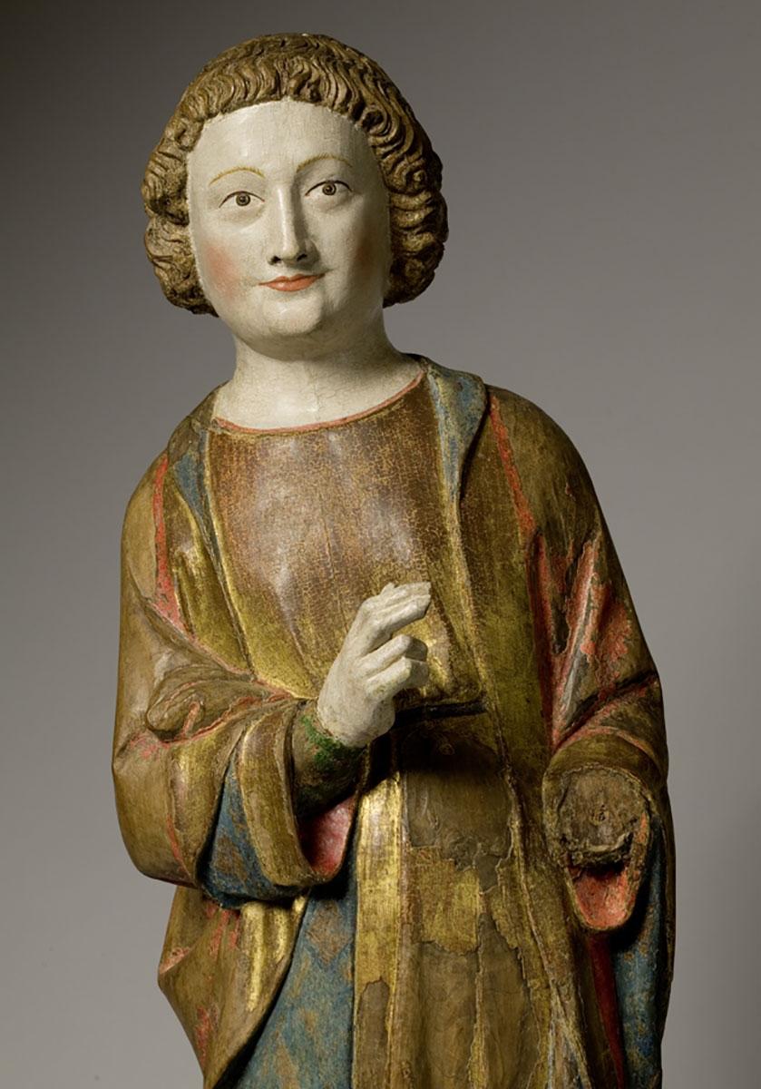 Holzskulptur des Evangelisten Johannes, um 1330
