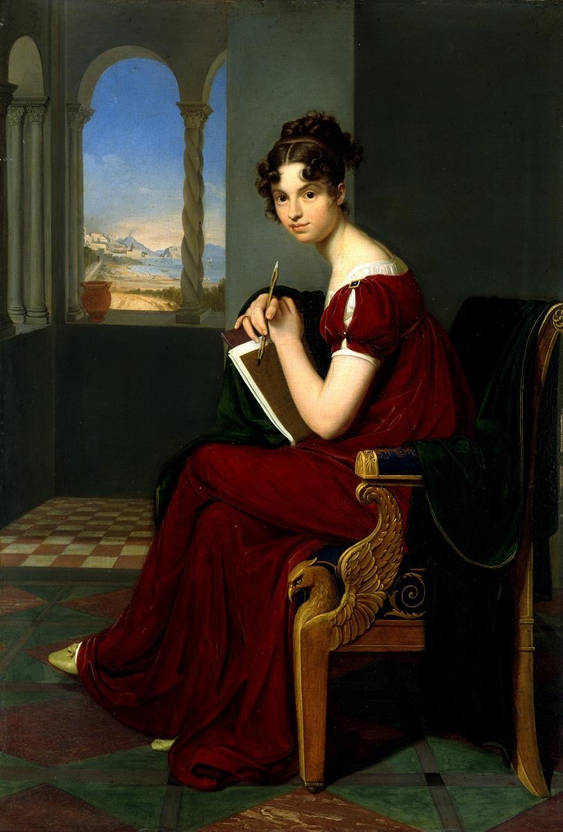 """""""Junge Dame mit Zeichengerät"""" von Carl Christian Vogel von Vogelstein, 1816"""