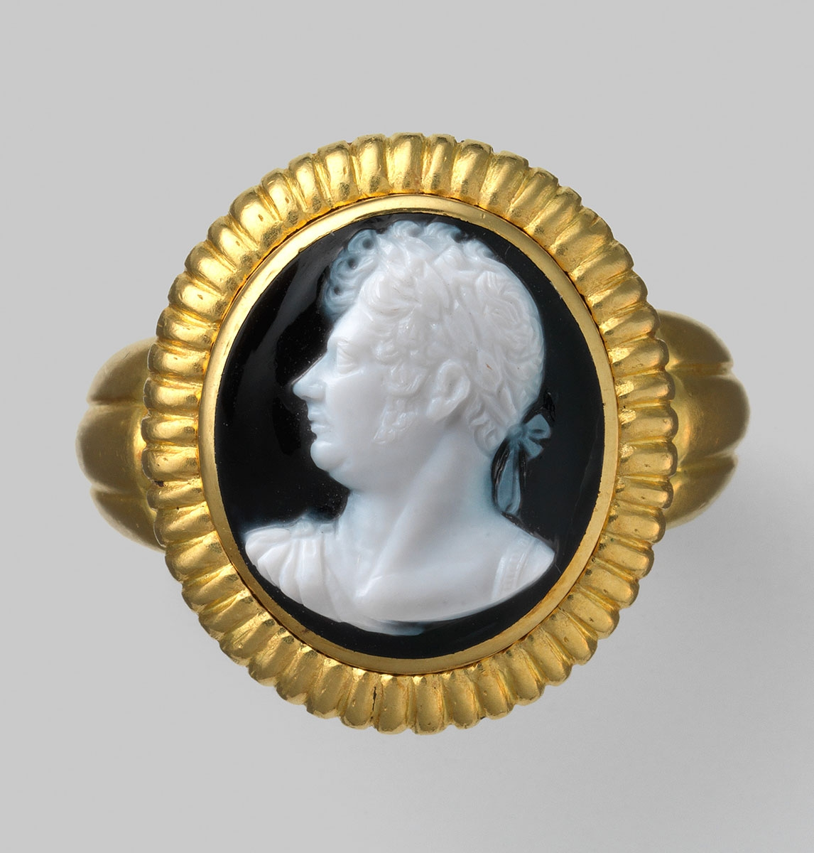 Goldring mit Onyx-Kamee, Bildnis Georg IV. (1762-1830), um 1821