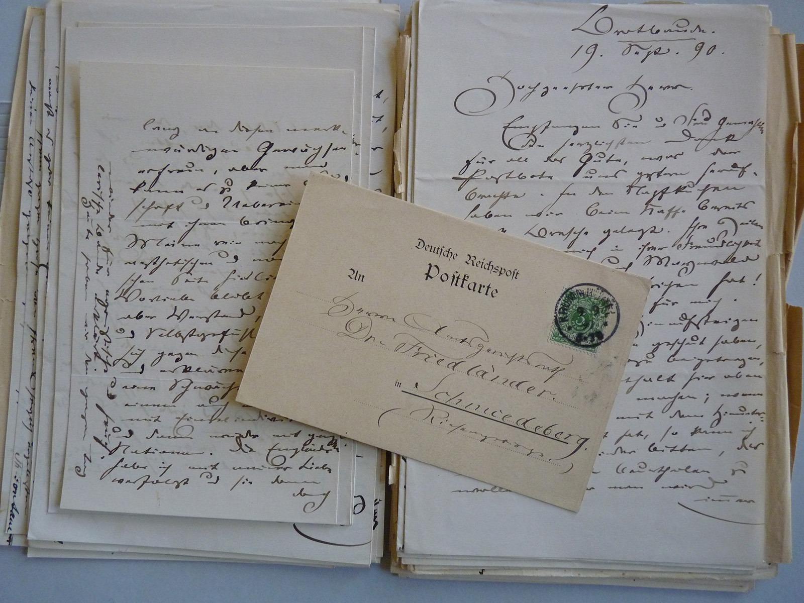 Briefe von Theodor Fontane an Georg Friedlaender