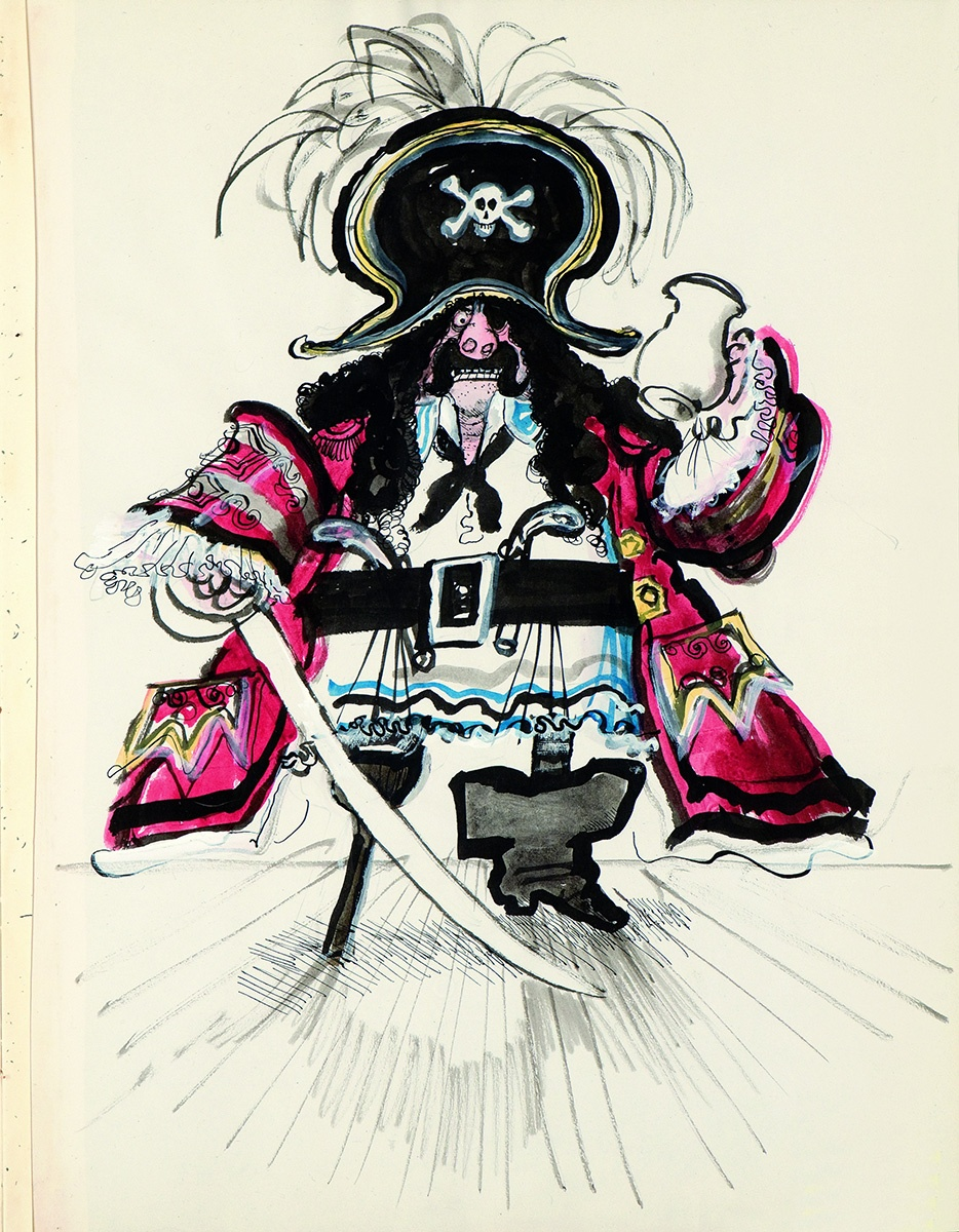 "Ronald Searle, Dick Deadeye, o. J., aus dem Skizzenbuch ""Dick Deadeye"""