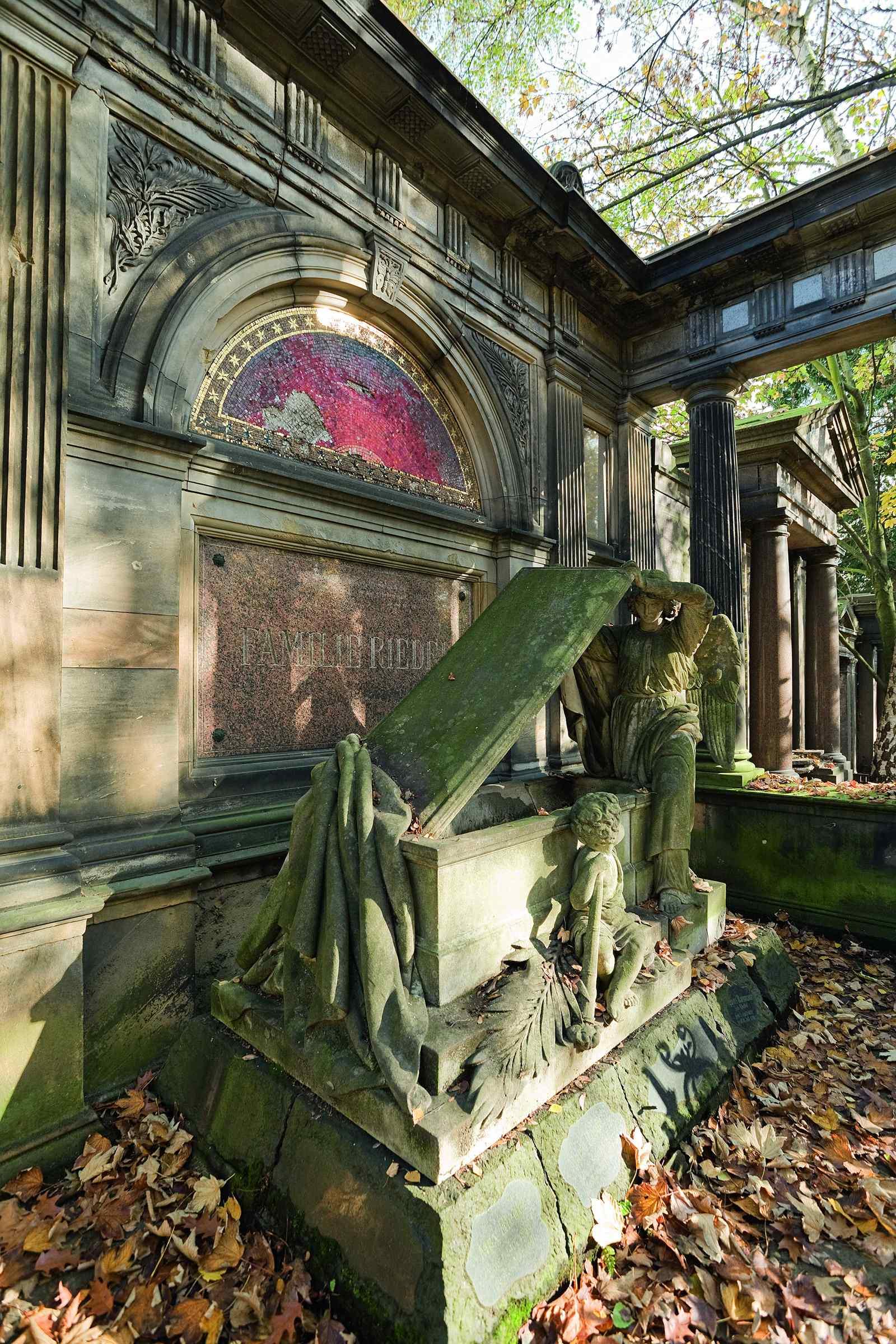 Grabstätte der Familie Riedel; Foto: Daniela Friebel