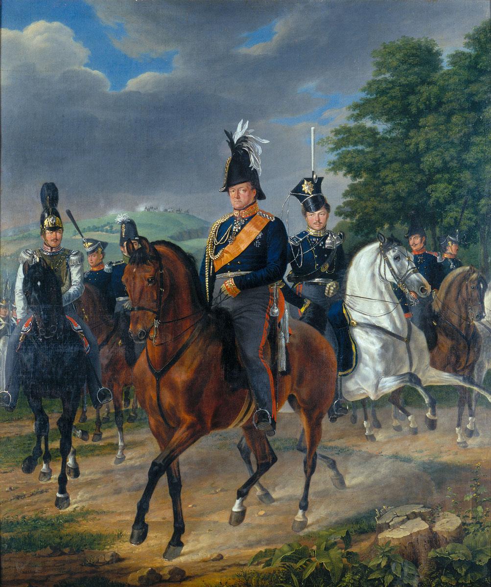 """Franz Krüger, """"August Wilhelm Graf Neidhardt von Gneisenau zu Pferde mit Gefolge"""" von 1819"""