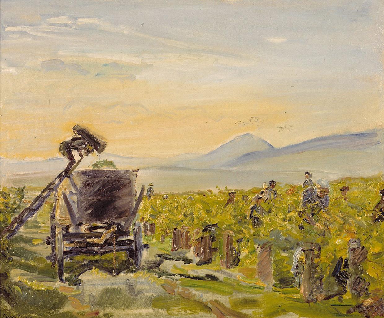 Max Slevogt, Kleine Weinernte, 1913, 17,9×27 cm; Max Slevogt-Galerie, Schloss Villa Ludwigshöhe