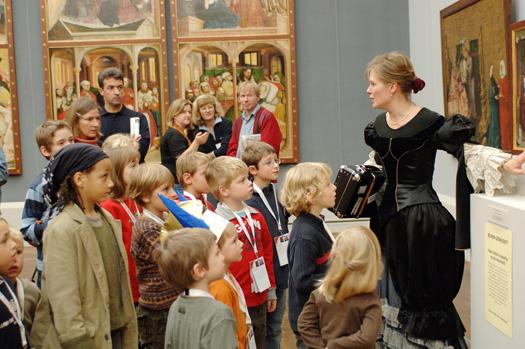 """Kinderfest """"Zeitreise"""", 2007, in der Gemäldegalerie - Staatliche Museen zu Berlin"""