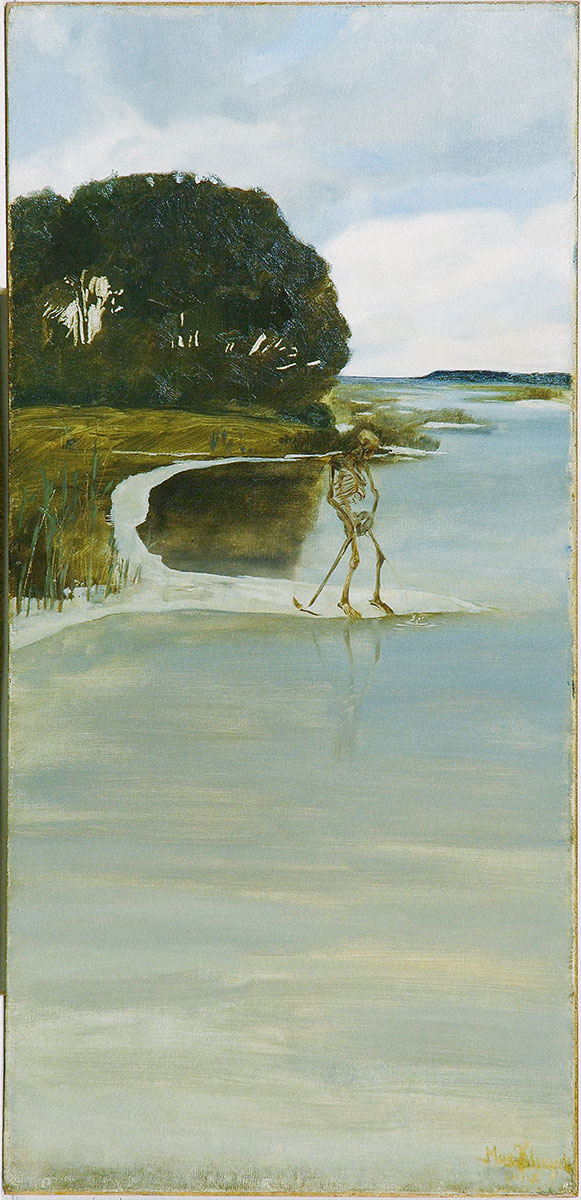 Max Klinger, Pinkelnder Tod, um 1880