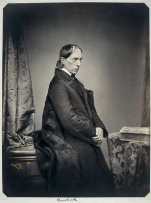 Friedrich Overbeck 1855, Fotografie von Franz Hanfstaengl; Münchner Stadtmuseum