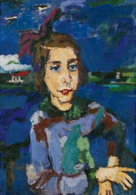 Oskar Kokoschka, Gitta Wallerstein, 1921, 85×60 cm; Galerie Neue Meister, Staatliche Kunstsammlungen Dresden