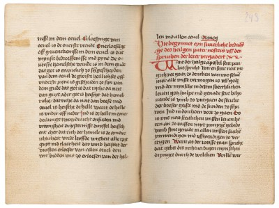 Nikolaus von Kues, Vaterunser-Auslegung (Sermo XXIV), Cod. Cus. 220a, ca. 1460–1485, 14,4×10,5 cm; St. Nikolaus-Hospital/Cusanusstift, Bernkastel-Kues