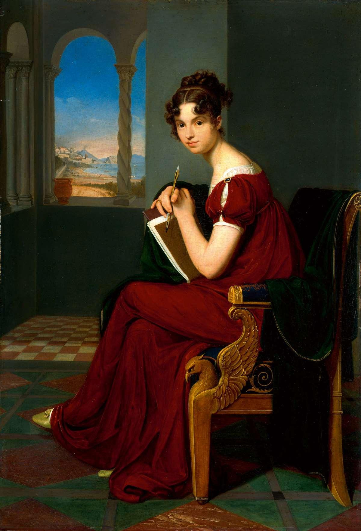 Carl Christian Vogel von Vogelstein, Junge Dame mit Zeichengerät, 1816, 70×48,5 cm