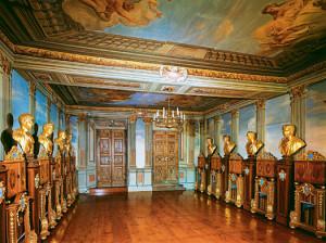Blick in das Münzkabinett in der Forschungsbibliothek Gotha auf Schloss Friedenstein