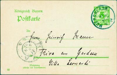 Vorderseite der Karte vom 10.4.1904  © die LÜBECKER MUSEEN / Buddenbrookhaus