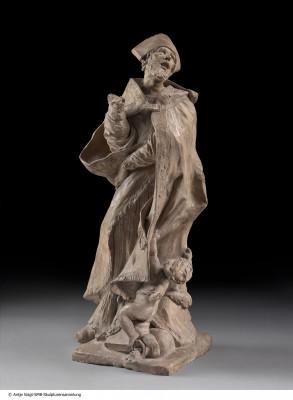 Pierre Puget, Bozzetto für eine Kolossalstatue des Heiligen Alessandro Sauli, 1663/64, Höhe 66 cm; © Staatliche Museen zu Berlin - Preußischer Kulturbesitz/Foto: Antje Voigt