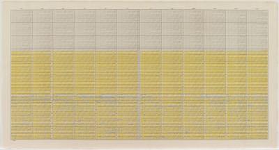 "On Kawara, One Hundred Years Calender – 20th Century ""24,845 days"", 2000, 68,6 x 129,5 cm; MMK Museum für Moderne Kunst Frankfurt am Main; © MMK/OMY Foundation"