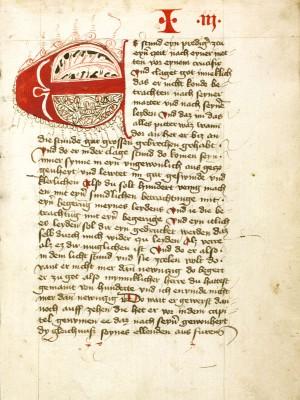 Heinrich Seuse, Büchlein der ewigen Weisheit, 1435, 21 x 15 cm; Stadtbibliothek im Bildungscampus Nürnberg