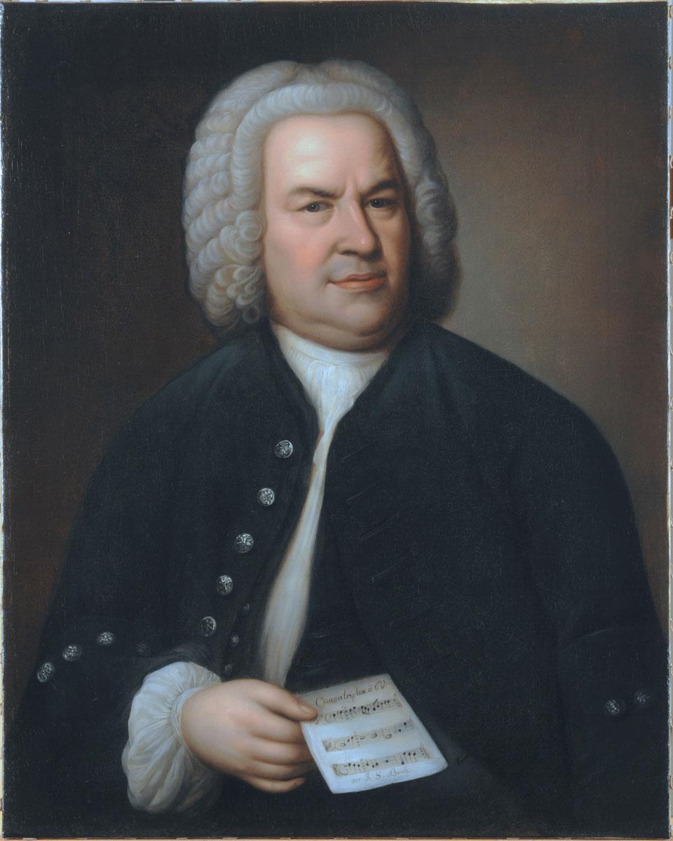 Anonym: Johann Sebastian Bach nach Elias Gottlob Haussmann, vermutlich Mitte des 19. Jahrhunderts, 81,3 x 64,5 cm; © Sammlung Bach-Archiv Leipzig/Foto: Sybille Reschke