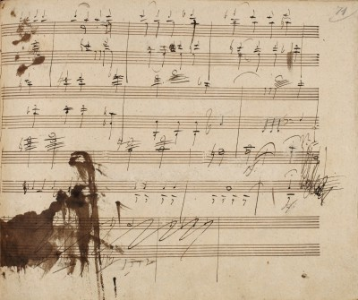 Autograph Ludwig van Beethovens, Diabelli-Variationen op. 120, 32. Variation, S. 71; erworben 2009 vom Beethoven-Haus, Bonn © Beethoven-Haus Bonn