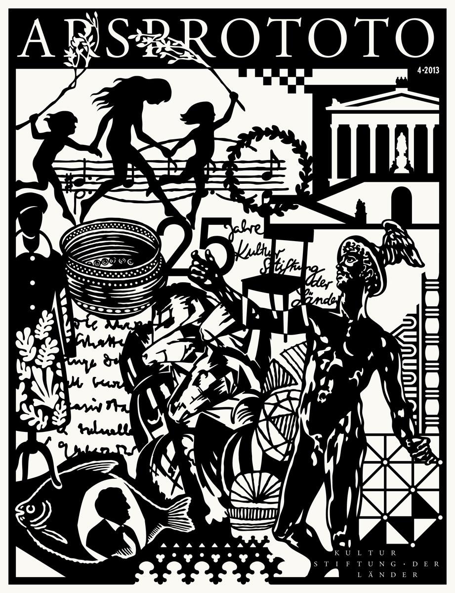 Cover der Jubiläumsausgabe von Arsprototo, dem Magazin der Kulturstiftung der Länder