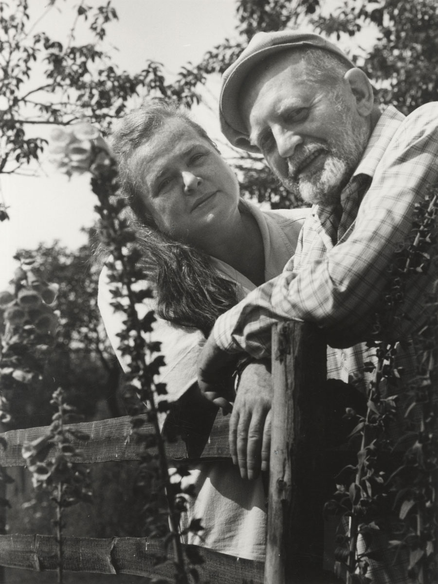 Eva und Erwin Strittmatter, Schulzenhof 1987 © bpk / Gerhard Kiesling