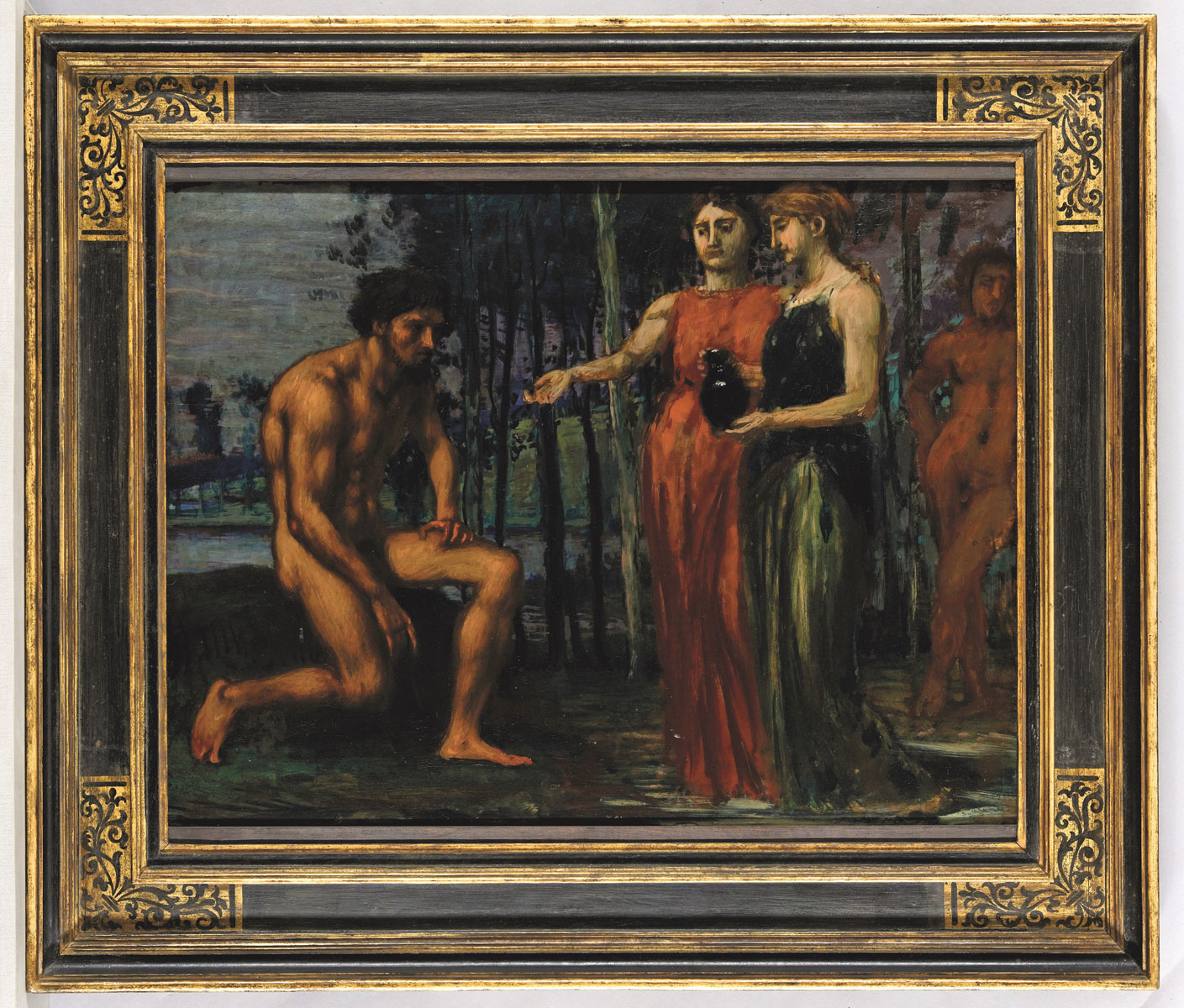 Hans von Marées, Die Labung, 64 x 85 cm, 1880; © Museum Wiesbaden