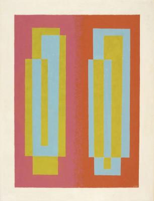 Josef Albers, Oscillating (A), 1940; Gemäldekonvolut erworben 2012 vom Josef Albers Museum Quadrat, Bottrop © The Josef and Anni Albers Foundation, VG Bild-Kunst, Bonn 2013