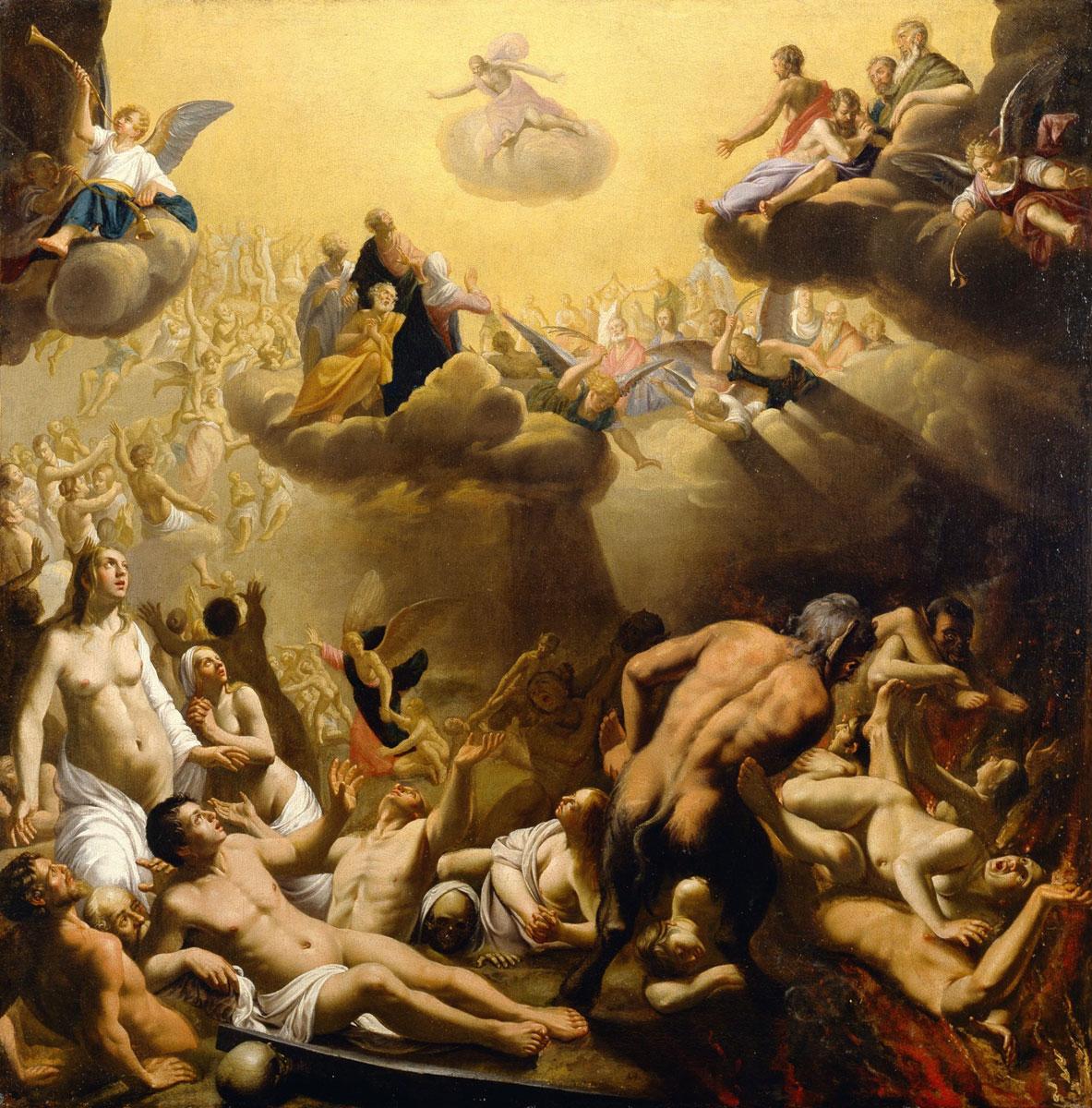 """Nicolaes Eliasz, genannt Pickenoy, """"Das Jüngste Gericht"""", 1620er Jahre, Öl auf Leinwand, 103 x 102,5 cm, Suermondt-Ludwig-Museum, Aachen"""