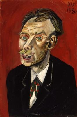 Otto Dix, Bildnis Max John, 1920; im Rahmen einses Restitutionsbegehrens erworben 2010 vom Museum für Neue Kunst Freiburg © VG Bild-Kunst, Bonn 2013, Museum für Neue Kunst, Freiburg