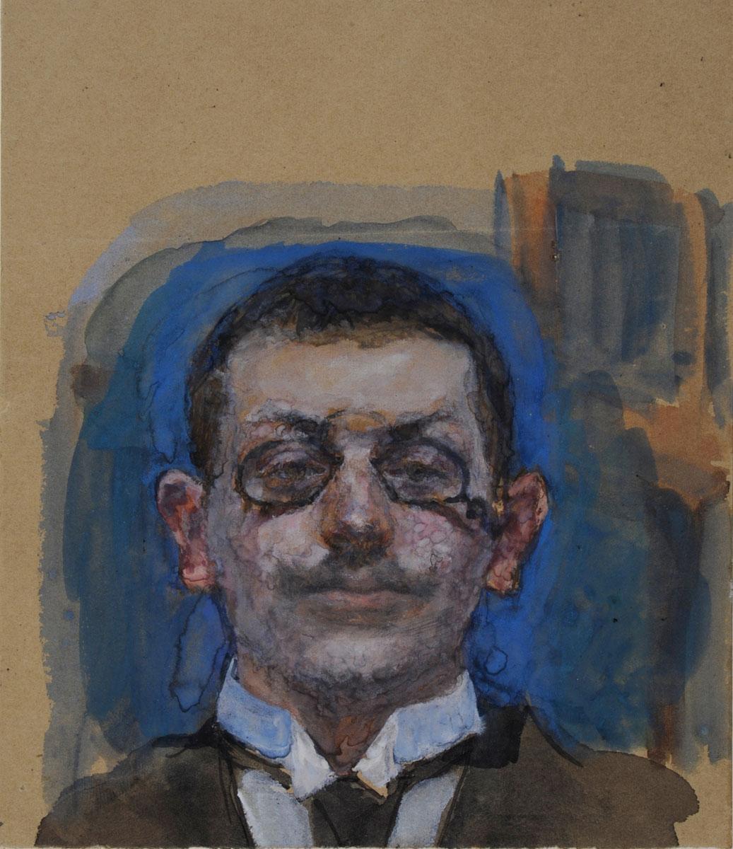 Max Slevogt: Selbstbildnis en face, um 1899; © GDKE Rheinland-Pfalz | Landesmuseums Mainz | Slevogt-Archiv/Grafischer Nachlass Fotos: Ursula Rudischer