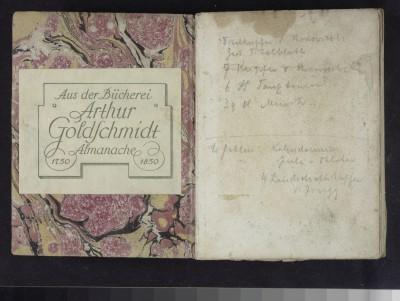 Almanach und Taschenbuch zum geselligen Vergnügen / Herausgegeben von W. G. Becker. - Leipzig : Roch und Weigel, 1800 © Klassik Stiftung Weimar