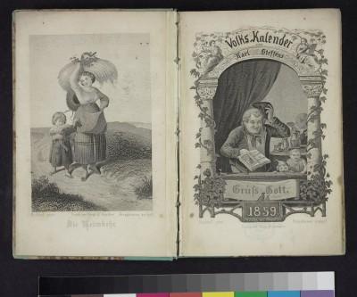Volks-Kalender für 1859 / Herausgegeben von Karl Steffens. - Leipzig : Voigt & Günther © Klassik Stiftung Weimar