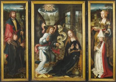 Verkündigungsaltar von Jacob Claesz. van Utrecht Fotoarchiv der Hansestadt Lübeck, St. Annen-Museum