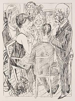 Max Beckmann, Berliner Reise, aus dem Mappenwerk mit insgesamt 10 Lithographien, 1922, 70 × 56 cm © VG-Bildkunst, Bonn 2013/Berlinische Galerie