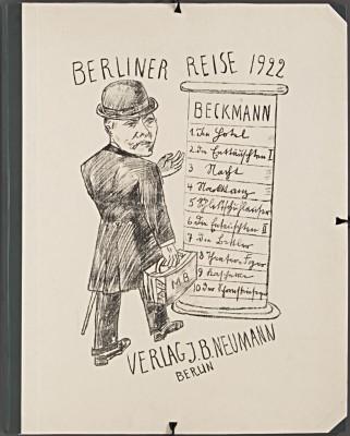 Max Beckmann, Berliner Reise, Mappenumschlag, 1922 © VG-Bildkunst, Bonn 2013/Berlinische Galerie
