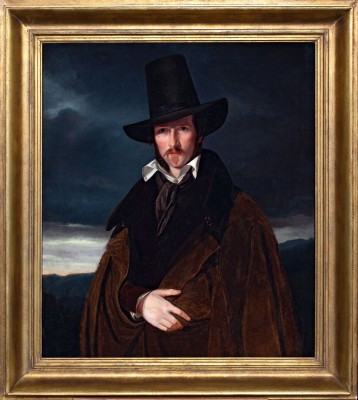 Wilhelm Bendz, Bildnis des Münchner Malers Wilhelm von Kaulbach, 1832, 92,5x79,5cm; Museum Bad Arolsen © Museum Bad Arolsen/ Foto: Frank Hellwig