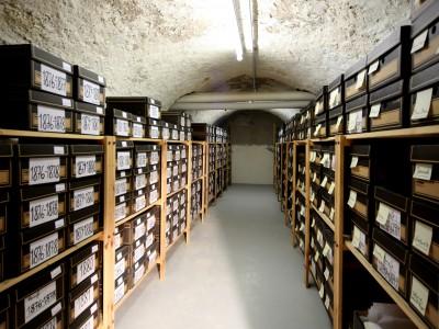 Blick ins Archiv bei der Schott Music GmbH & Co. KG in Mainz; © Peter Andersen