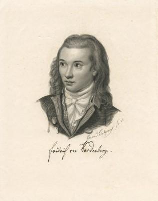 Friedrich von Hardenberg, genannt Novalis (1772-1801), Stich von Eduard Eichens nach dem Gemälde eines unbekannten Künstlers, 1845; Freies Deutsches Hochstift, Frankfurt a. M.