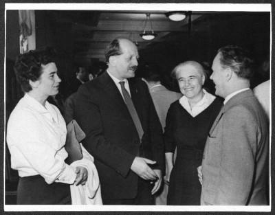 Erwin Strittmatter mit Christa Wolf, Anna Seghers und Otto Gotsche während einer Reise in die Sowjetunion 1959 © Foto AdK, Christa-Wolf-Archiv