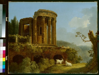 Jakob Philipp Hackert, Tempel der Sibylle bei Tivoli, um 1770 © Gemäldegalerie Alte Meister, SKD / Foto: Elke Estel, Hans-Peter Klut