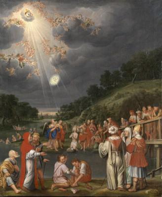 Wolfgang Heimbach, Die Taufe Christi im Jordan, 1670er Jahre © Stadtmuseum Coesfeld, Foto: Galerie Neuse, Bremen