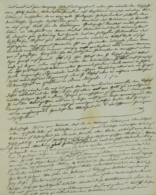 Clemens Brentano, Brief an Moritz Lieber vom 11. November 1831; Freies Deutsches Hochstift, Frankfurt a. M.