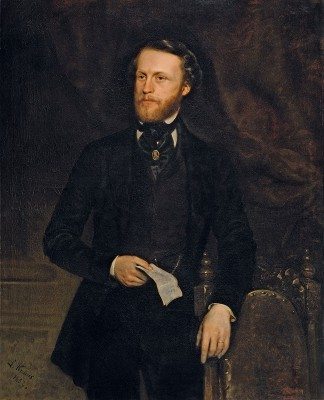 Ludwig Knaus, Bildnis Barthold Suermondt, 1852, 196 x 134 cm; Suermondt-Ludwig-Museum, Aachen